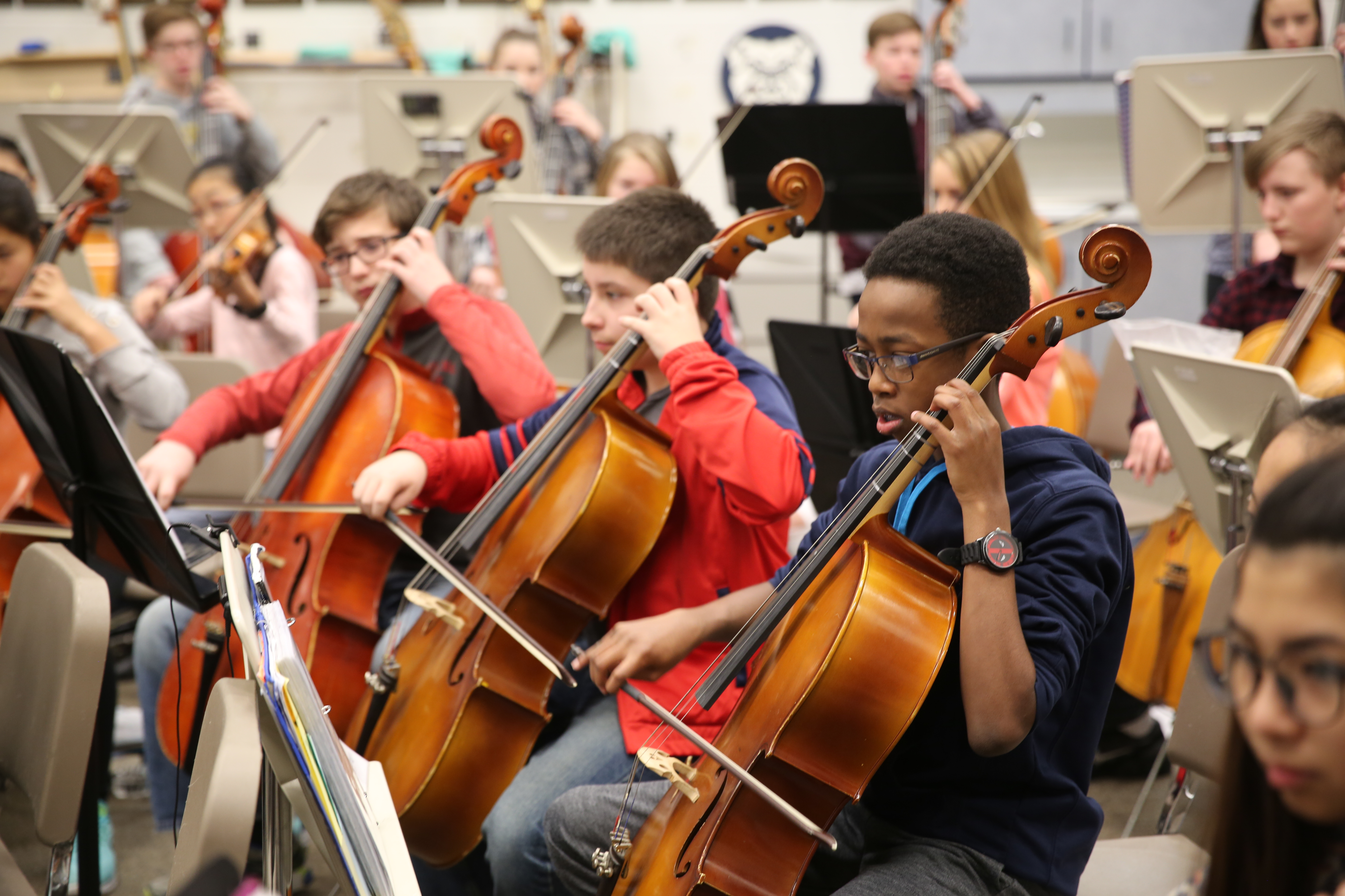 Discovery Orchestra students