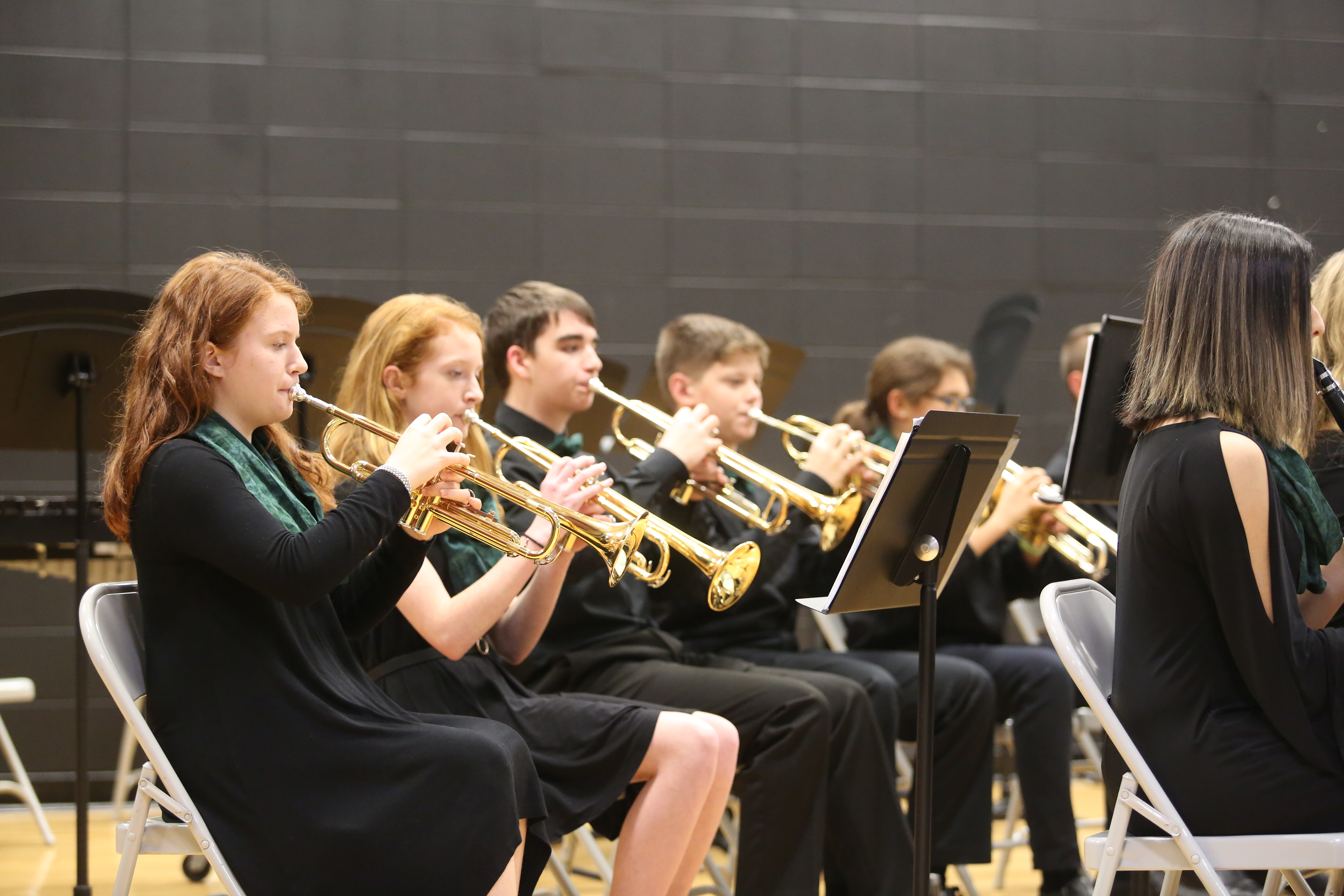 Discovery Middle School Orchestra students