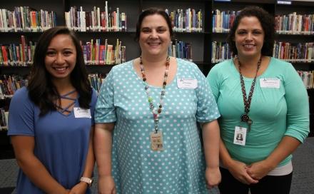 Gabriella Kintner (6th grade), Melody Kruger (Exceptional Education), Melissa Shemanski (Resource Teacher)