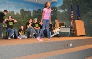 Drama Club students rehearse for their fall performance.