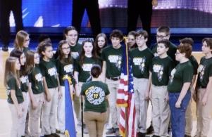 Choir Sings National Anthem