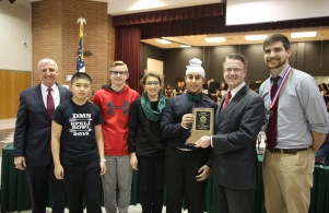 State Spell Bowl Champions Recognized at Board Meeting with Supt. Dr. Jerry Thacker & Board Pres. Chris Riley (11/26/18)